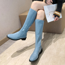 Fashion Over The Knee Boots Women Blue Yellow White 2019 New Colorful Fall Green Platform Black