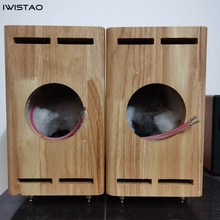 3/4inch-Hole Empty-Cabinet FOSTEX Tube-Amplifier Wood IWISTAO SOLO103 1-Pair Classic