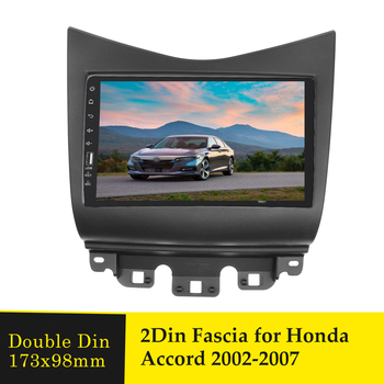 Double Din Din Car Fascia for Honda Accord 2002-2007 Stereo Radio Bezel DVD Player Panel Refitting Face Frame Install Trim Kit image