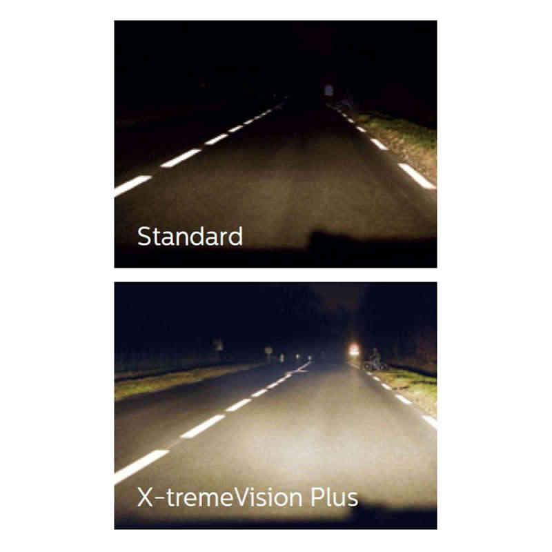 2X Philips H11 12 В 55 Вт X-treme Vision автомобильный головной светильник, лампы 100% более яркие оригинальные галогенные лампы OEM противотуманный светильник 12362XVS2