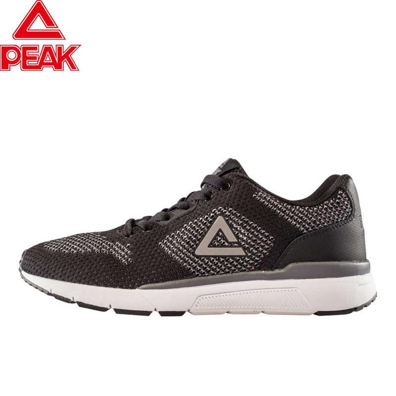 PEAK mężczyźni trampki oddychające buty sportowe z siateczką męskie zasznurować antypoślizgowe mężczyźni niskie sportowe trampki buty do biegania przypadkowi mężczyźni buty