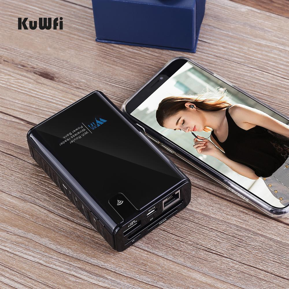 Image 5 - KuWFi Wireless Data share Power bank Travel Router , Wireless SD Card Reader Connect Portable SSD Hard Drive to iPhone iPad-in Wireless Routers from Computer & Office