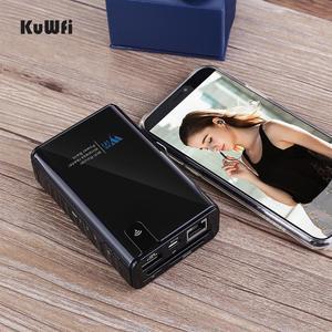 Image 5 - Kuwfi ワイヤレスデータ共有電源銀行旅行ルータ、ワイヤレス sd カードリーダー接続ポータブル ssd ハードドライブ iphone アプリ