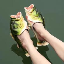 Letnie damskie slajdy duże rozmiary damskie śmieszne kapcie domowe damskie mieszkania mieszkania damskie buty plażowe kochanek obuwie rodzinne mężczyźni ryby 2020 tanie tanio ownership CN (pochodzenie) RUBBER Mieszkanie (≤1cm) 0-3 cm Pasuje prawda na wymiar weź swój normalny rozmiar CSA0719