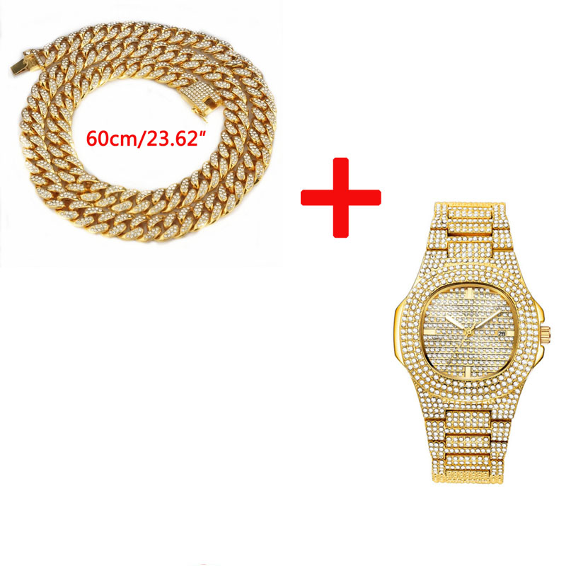 Dropshipping Mens Watches Top Brand Luxury Iced Out Watch Diamond Watch for Men Stainless Steel Business Wristwatch Man Hip Hop