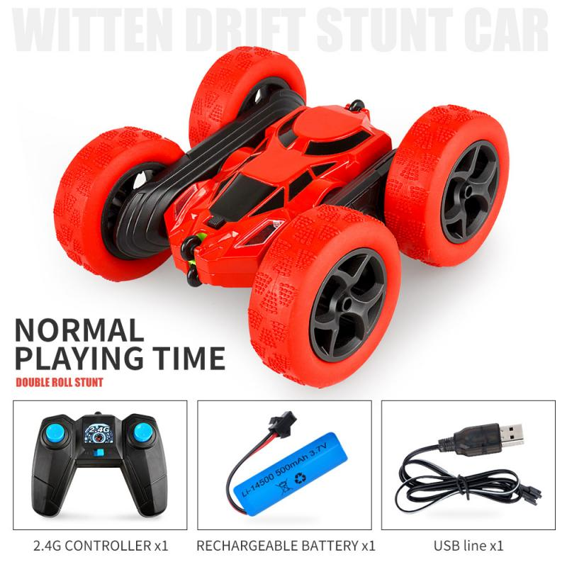 RC Stunt Car Drift Deformation Double sided stunt turning 360 remote control car 2.4G car children's toy car boy's acrobatic toy
