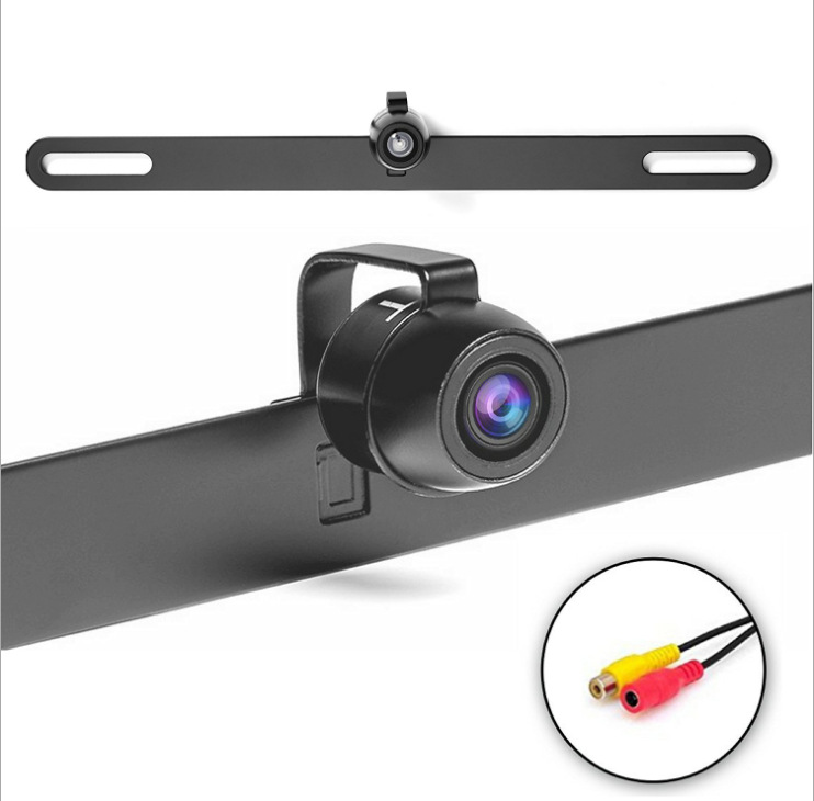 Direct Selling Metal Strip Small Butterfly License Plate Frame Webcam High-definition Waterproof Night Vision License Plate Fram