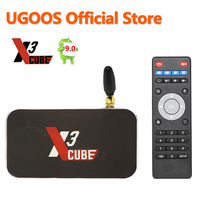 UGOOS X3 cubo TV caja Amlogic S905X3 Android 9,0 4GB 64GB 2,4G 5G WiFi 1000M Bluetooth 4K reproductor de medios 4G32G X3 Pro Dispositivo de Tv inteligente