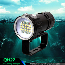 IPX8 עמוק עמיד למים צלילה פנס LED 500W XHP90 צילום וידאו אור טקטי לפיד מתחת למים 200m צלילה מנורה