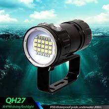Водонепроницаемая светодиодсветильник вспышка IPX8 для подводного плавания, 500 Вт, XHP90, тактический фонарь для фотосъемки и видеосъемки, подводная лампа для погружения на 200 м