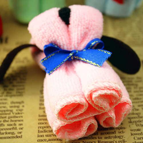 Cute Dog Cake Shape Towel Soft Breathable Cotton Washcloth Wedding Gifts Present полотенце махровое полотенце банное