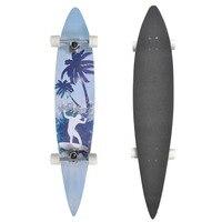 VidaXL Pintail Shape Skateboard Speed Abec 7 Bearings Palm Tress Deck Longboard 60 Mm Wheels Skate Board