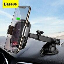 Baseus 적외선 유도 무선 자동차 충전기 아이폰 11 프로 최대 삼성 S9 Qi 빠른 무선 충전 자동차 전화 홀더 스탠드