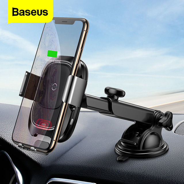 Baseus Infrared Induction Wireless Car Charger For iPhone 11 Pro Max Samsung S9 Qi Fast Wirless Charging Car Phone Holder Stand