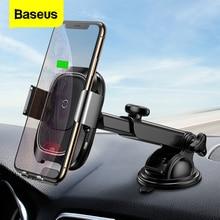 Baseus indução infravermelha sem fio carregador de carro para iphone 11 pro max samsung s9 qi carregamento rápido wirless suporte do telefone carro