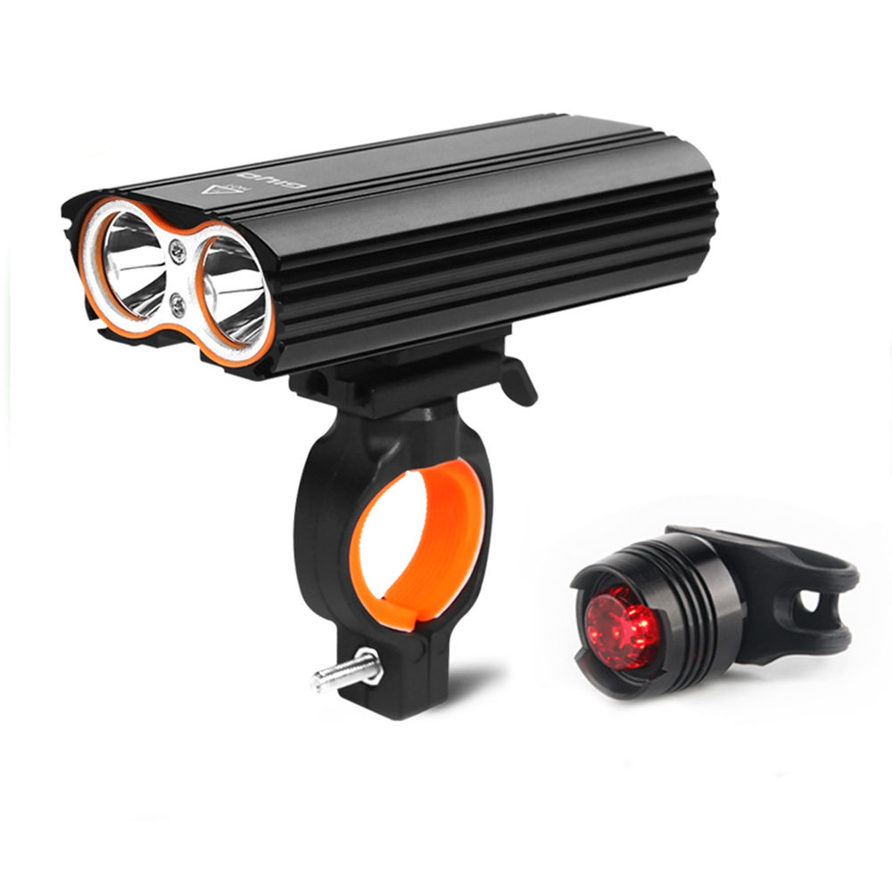 GYIO 2400Lumen <font><b>Bicycle</b></font> Lights 2 Battery T6 Leds <font><b>Bicycle</b></font> Light Cycling Lamp Lantern <font><b>Flashlight</b></font> <font><b>For</b></font> <font><b>Bicycle</b></font> Bike image