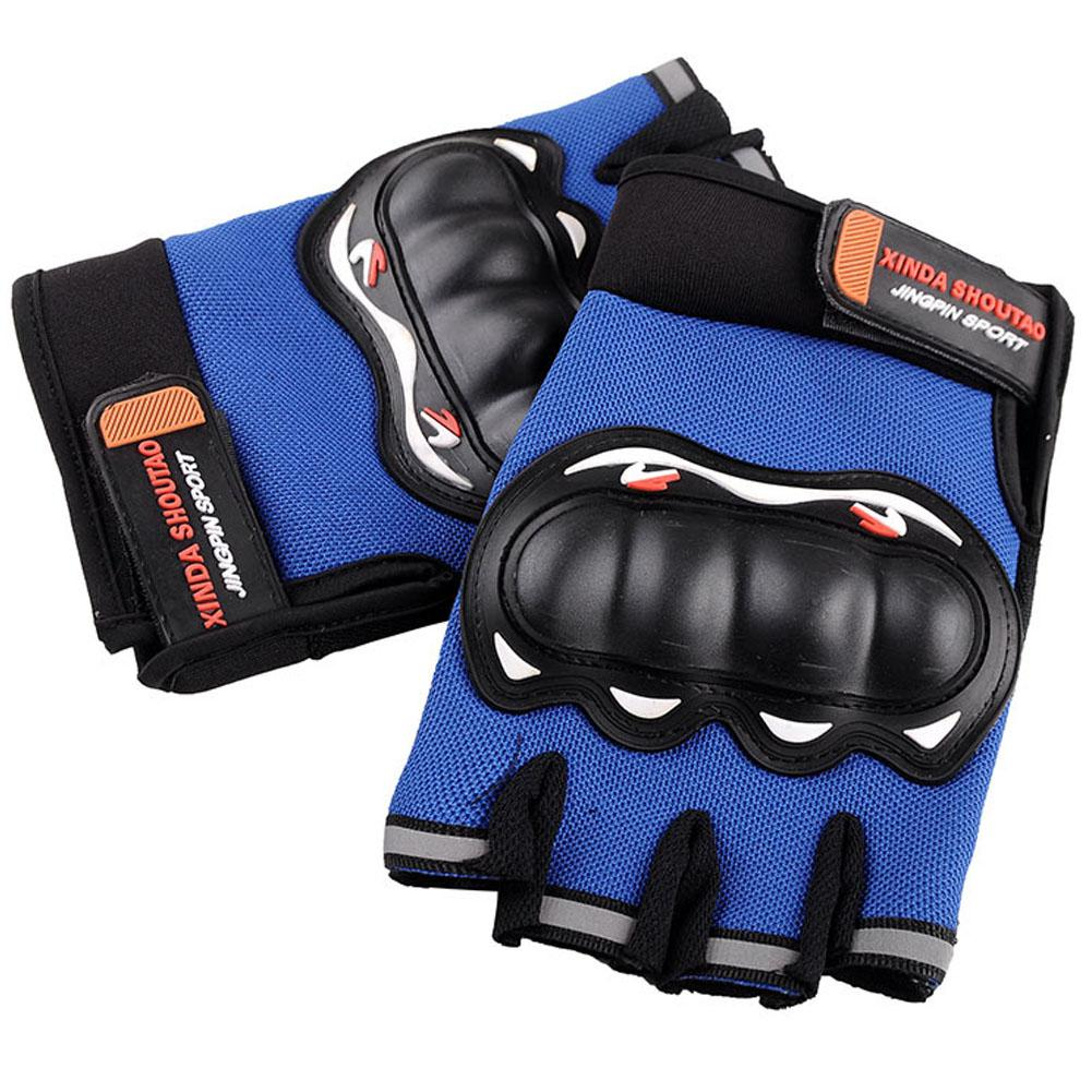 Half Finger Motorcycle Gloves Motocross Racing Protective Riding Scooter Guantes Motocicleta Breathable Bicycle Cycling Gloves