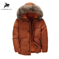 2019 Canada Down Jacket Men Thick Warm 90% White Duck Down Hooded Natural Fur Collar Man Down Jacket Waterproof Men Down Coat