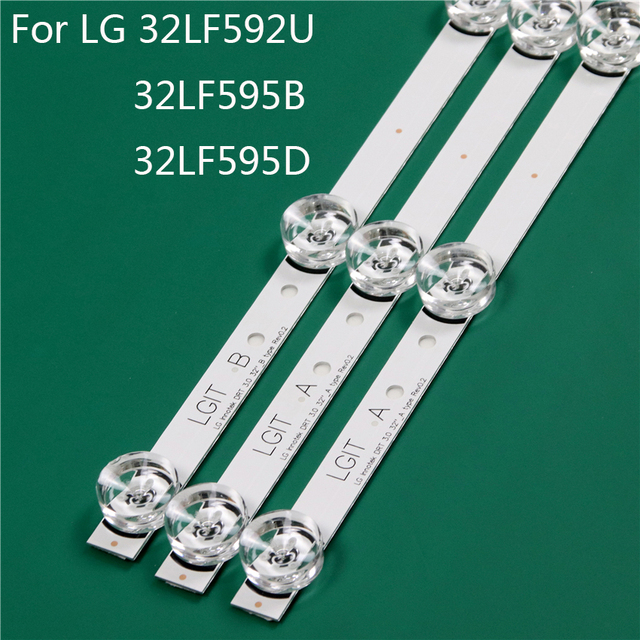LED TV Illumination Part Replacement For LG 32LF592U ZB 32LF595B UB 32LF595D TA LED Bar Backlight Strip Line Ruler DRT3.0 32 A B