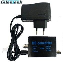 L'entrée d'alimentation 5V-20V convertit le signal AHD/TVI/CVI/CVBS en HDMI/VGA/CVBS signal convertisseur vidéo résolution de sortie ou changement de mode TV