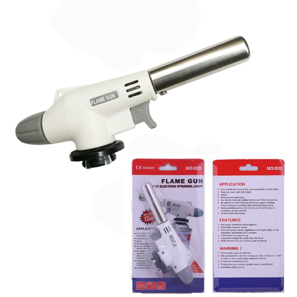 Portable Flame Gun BBQ Heating Ignition Butane Camping Welding Gas Torch Metal