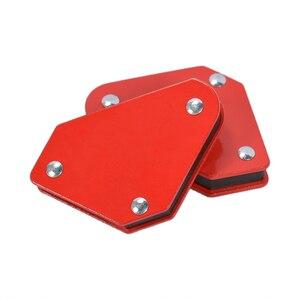 Image 2 - 4 قطعة/الوحدة 4 لحام المغناطيس المغناطيسي حامل مربع السهم المشبك 45 90 135 9LB المشبك المغناطيسي ل أدوات لحام الحديد الكهربائية