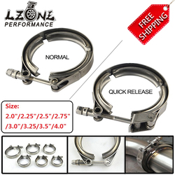 FREE SHIPPING STAINLESS STEEL 304 TURBO / INTERCOOLER / DOWNPIPE / DOWN PIPE / HOSE NORMAL OR QUICK RELEASE V Band CLAMP