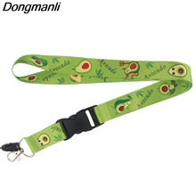PC232 Commercio All'ingrosso 20 pz/lotto di Avocado Portachiavi Portachiavi Id Badge Holder ID Pass Palestra Del Telefono Mobile USB Badge Holder Chiave cinghia(China)