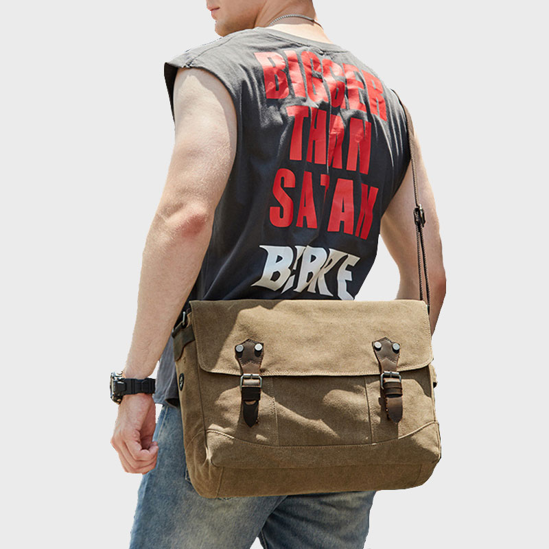 Men Classic Briefcase Shoulder Bag Business Crossbody Multi-Pocket High Quality Canvas Large Space Messenger Handbags XA528ZC