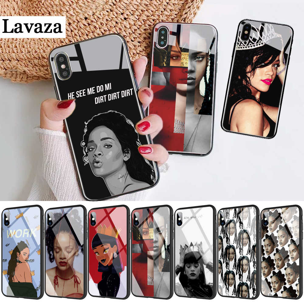 295d Rihanna Cute Wallpaper Pictures Luxury Glass Phone Case For