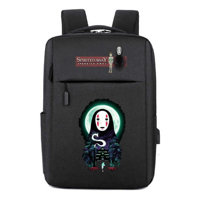 המסע מופלא Kaonashi תרמיל usb טעינה בד בית ספר תיקי כתף תיק מחשב נייד נסיעות תיק תרמיל