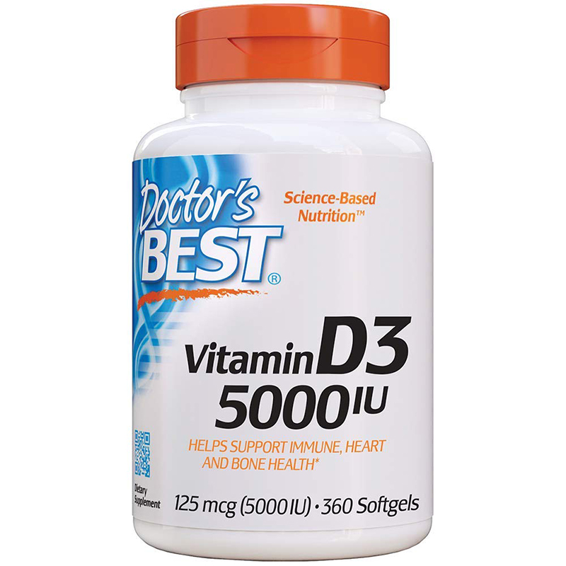 Free Shipping Vitamin D 3 5000 IU 360 Pcs