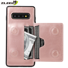 Luxury Leather Note10plus Silicone Case For Samsung Galaxy S10 S10E S9 S8 Plus Note 8 9 10 + Wallet Phone Back Cover Coque Mujer