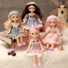 Fashion BJD Doll 1/6 30cm Beauty Dress Up Toy Gifts For Baby Girl Vinyl Dolls 13 Joints Nude Body With Clothes Doll Toy for Girl 1 12 original girls bjd doll 14 joint baby doll toy lovely princess body nude bjd doll dress up baby toy for girls gift kids toy