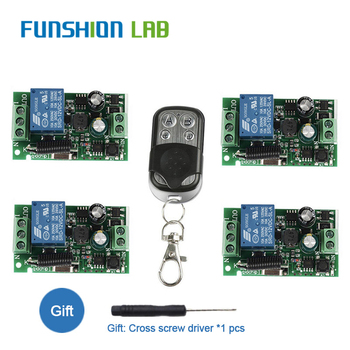 цена на FUNSHION 433Mhz Wireless Remote Control Switch AC85V ~ 250V 110V 220V 1CH Relay Receiver Module + RF Transmitter For Garage Door