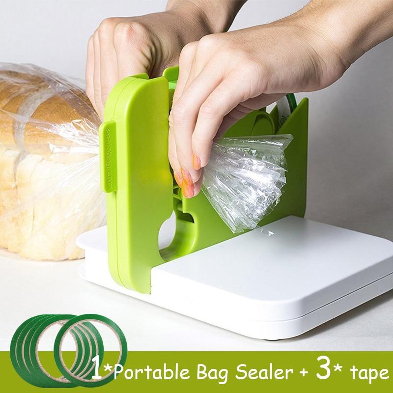 Portable Bag Sealer Sealing Device Food Saver By Sealabag Kitchen Gadgets And Tools Saelabag Seal Anywhere With 40m Tape