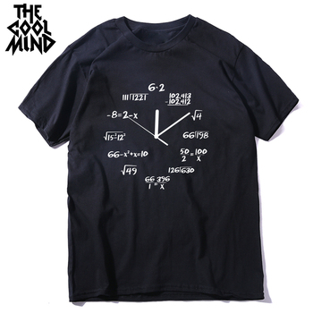 black math clock print mens tshirt