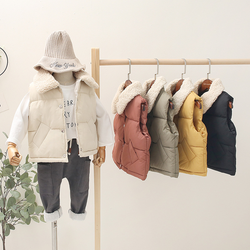 Vests Coats Autumn Baby-Boys-Girls Korean-Style Winter Kids Children Sleeveless Cotton