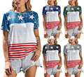 Europe and America Cross Border Wish Amazon Foreign Trade Women's Clothing 2021 Summer Printed Fashion Loose Casual
