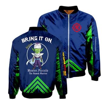 Anime Dragon Ball Cosplay Sweatshirts 3D Printed Thicken Flying Bomber Jacket Men's Streatwear Winter Adult Baseball Coat TOP