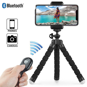 Image 2 - Phone Tripod, Portable And Adjustable Camera Stand Holder With Wireless Remote And Universal Clip For Iphone, Android Phone, Cam