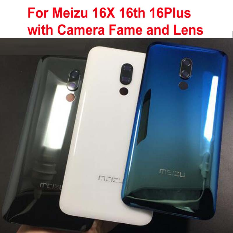 Original LTPro Best Back Battery Cover Housing Door Rear Case With Camera Frame Lens For Meizu 16X 16th 16Plus +STICKER Adhesive