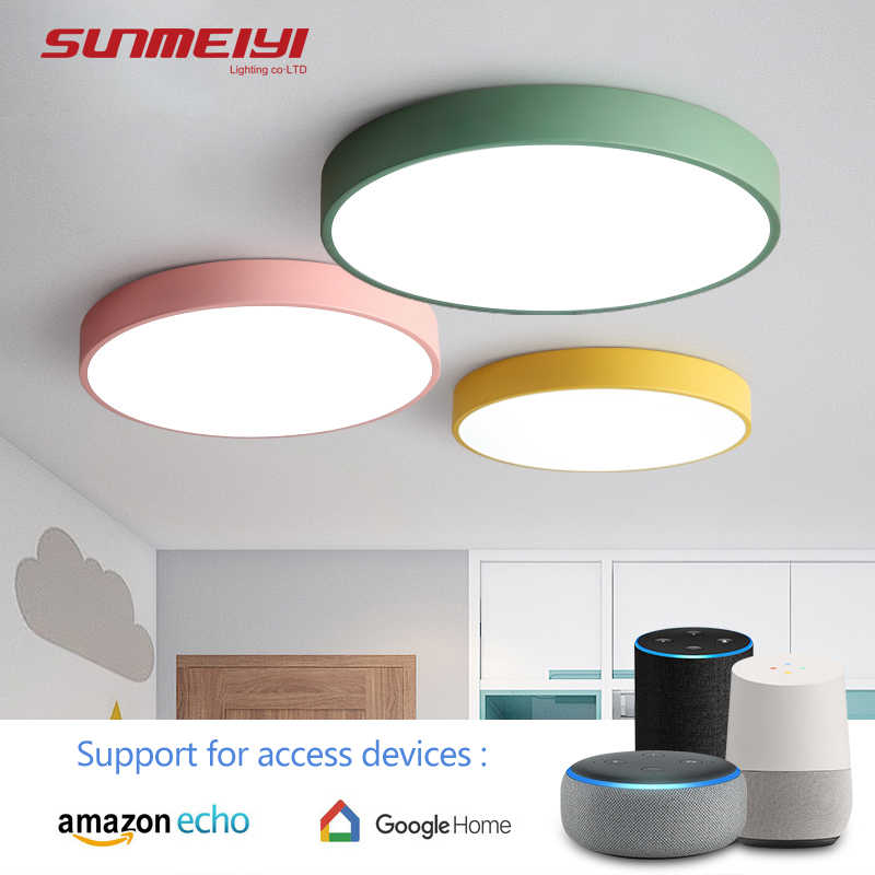 AI LED Ceiling Lights Google home Voice Control Nordic Home Lighting For Living room Kids Bedroom Hall Kitchen Lamp Fixture deco