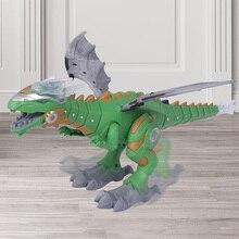 Electronic Dinosaur Toy Kids Funny Robot Multifunctional Mist Spray With Flashin