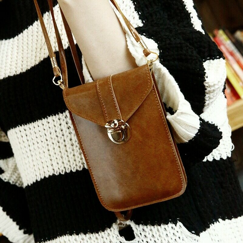 2020 Newest Hot Women Vantage Cross-Body Cell Phone Shoulder Strap Wallet Pouch Purse Mobile Phone Bag
