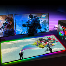 Mouse-Pad-Lights Computer-Keyboard Rubber Non-Slip Backlit RGB XGZ Art-Space And XXL