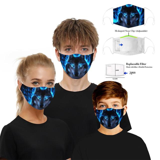 Skull Digital 3D Funny Anti Pollution PM2.5 Mask Dust Respirator Washable Reusable Masks Unisex Mouth Asthma/Travel/ Cycling 2