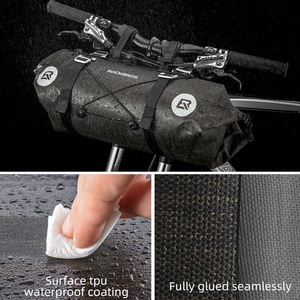 Image 5 - ROCKBROS Bicycle Bag Big Capacity Waterproof Front Tube Cycling Bag MTB Handlebar Bag Front Frame Trunk Pannier Bike Accessories