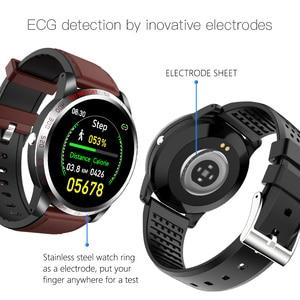"Image 3 - W3 ECG + HRV + SPO2 ساعة ذكية IP67 مقاوم للماء Lorenz الرسم البياني معدل ضربات القلب ضغط الدم شاشة عرض نسبة الأكسجين في الدّم 1.3 ""أسورة ساعة ذكية"