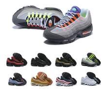 Hommes Shox 95 Chaussures De por supuesto Noir Hommes Respirant Maille Pas Cher Shox Formateurs cestas deporte 40-46